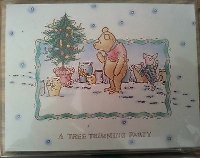 New-Pooh-&-Piglet-Tree-Trimming-Party-Invitations-Christmas-Party-Themed