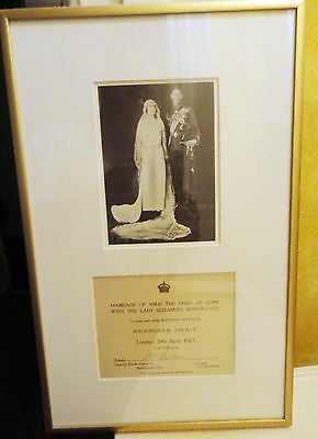 SALE 1923 invitation to see King George VI's & Queen Elizabeth's wedding gifts