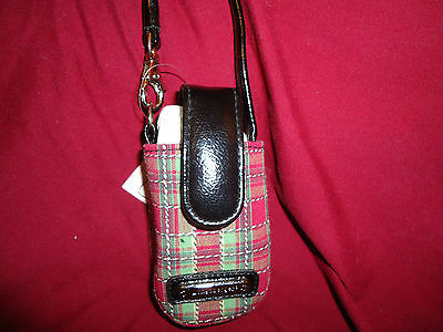 Longaberger Holiday Plaid Phone Case--new with tags
