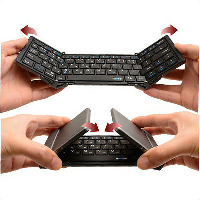 inote Bluetooth 3.0 Wireless TRIPLE Folding Keyboard For iPhone iPad Android