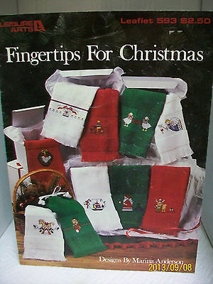 """LEISURE ARTS COUNTED CROSS STITCH CHART """"FNGERTIPS FOR CHRISTMAS"""" LEAFLET 593"""