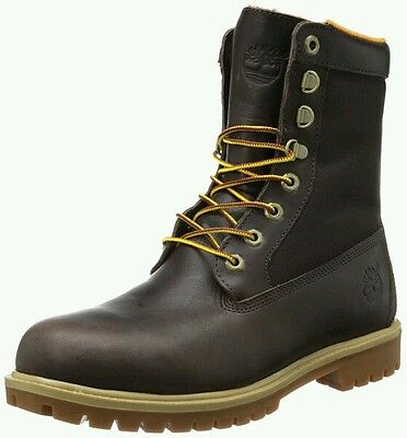 """New Mens Timberland EarthKeepers 8 """" Boots Size: 11M  Dark Brown Hunting"""