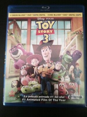 Toy Story 3 (Blu-ray/DVD, 2010, 4-Disc Set, Includes Digital Copy; Spanish)