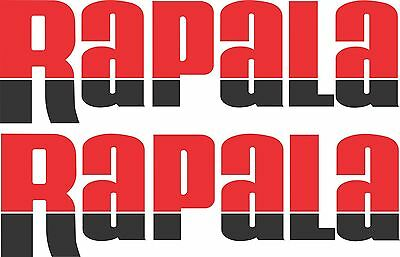 Rapala split colour stickers 2 x 275 x 85 Red / Black Avery Marine grade