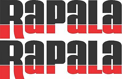 Rapala split colour stickers 2 x 400 x 125 Black / Red Avery Marine grade