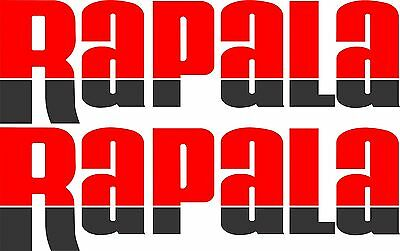 Rapala split colour stickers 2 x 550 x 170 Red / black Avery Marine grade