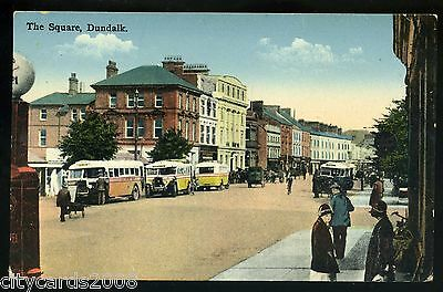 Ireland  DUNDALK   - The Square   Fine row of buses