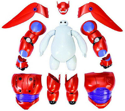 "2015 Big Hero 6 Armor Up Baymax Action Figure Assemble Toy 6.9""17.5cm Kid Gift"