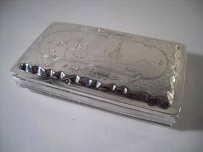 A Finely Decorated Antique Dutch Silver Tobacco/ Cigar Box : Holland 1869