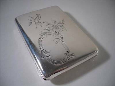 A Chinese Silver Case With Intricately Engraved Cover : Hong Kong c1900