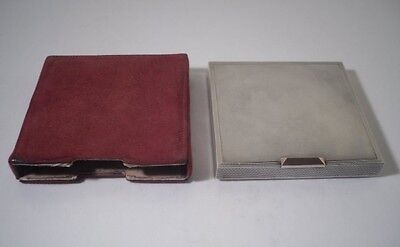 A Very Good Quality Silver & Gold Compact With Fitted Case : c1950