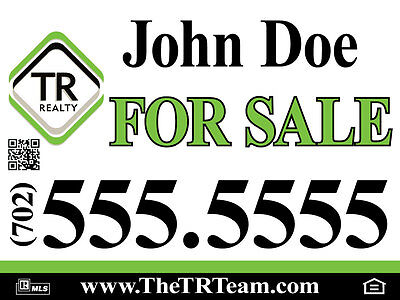 """10 pack 18""""x24"""" FULL COLOR/ DOUBLE sided/plastic REAL ESTATE & YARD SIGNS"""
