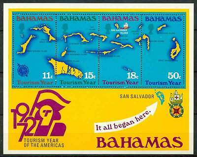 14-10-01535 - Bahamas 1972 SG  MS392 SS 100% MNH - Tourism Year of the Americas