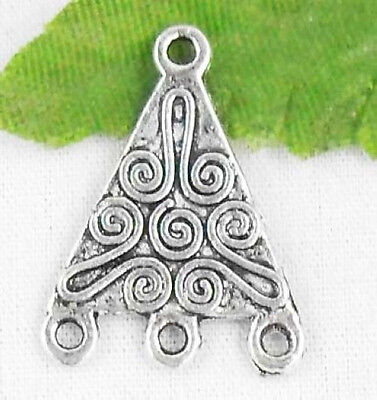 16Pcs Tibetan Silver 3-to-1 Connectors Findings 22x16mm