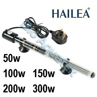 Hailea Aquarium Submersible Water Nutrient Heater Hydroponic 50w 100w 150w 200w