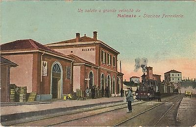 Malnate Varese Stazione, Gare, Banhof, Railway, Train Station - Early Post Card