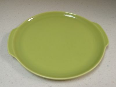 Vintage Green Ballerina Universal Pottery Lg  Plate Platter Dble handles USA