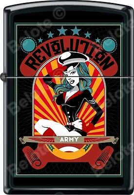 Zippo Army Revolution Woman Black Matte WindProof Lighter NEW