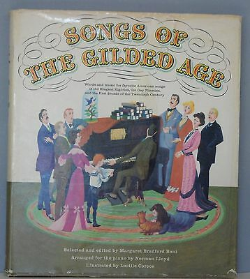 Vintage Music Book - Songs of the Gilded Age 1960 Golden Press American Melodies