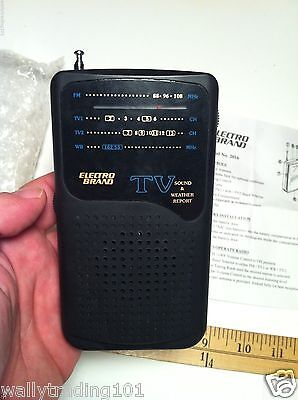 VINTAGE ELECTRO BRAND RADIO FM, TV, SOUND & WEATHER REPORT (WITH PAPERS & BAG)