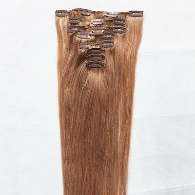 """just do it REMY 26"""" 8PCS #16 100% REAL HUMAN HAIR CLIP IN EXTENSIONS,120g ca"""