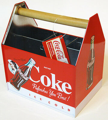 Coca Cola Ice Cold Coke Utensil Caddy. For picnics, napkins, sewing, tools, etc.