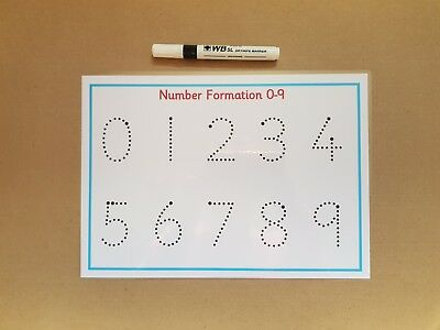 0-9 Number Formation Mat - Tracing Numbers - Reusable A4 Mat - Numeracy/EYFS/SEN
