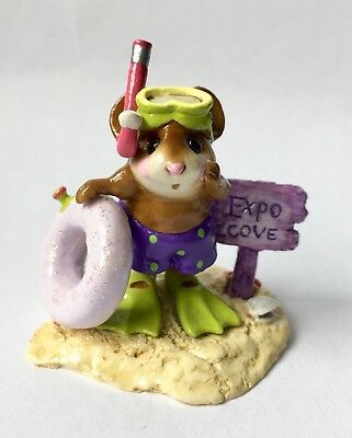 CATFISH COVE by Wee Forest Folk, WFF# M-293, EXPO COVE PURPLE, Mouse Expo 2004