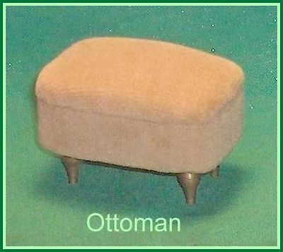 Beige  Color Ottoman  Footstool Dollhouse Furniture   Ideal Petite Princess