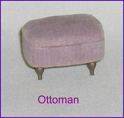 Lilac  Color Ottoman  Footstool Dollhouse Furniture   Ideal Petite Princess