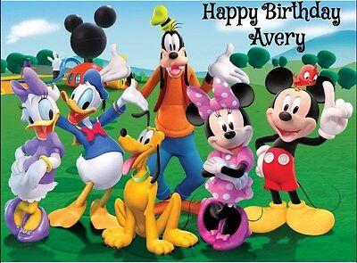 Mickey Mouse Clubhouse edible Image Cake topper Decoration Birthday party Friend