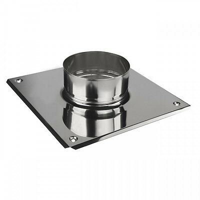 Stainless Steel Chimney Top Plate with Collar / Spigot Fuel Liner Connector KJ07
