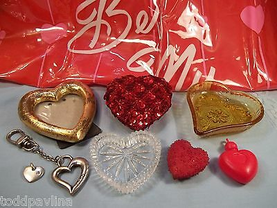 Heart Dish Amber Glass VTG Inflatable Blow Up Balloon Picture Frame Keychain Lot