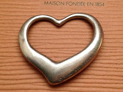 Vtg. TIFFANY & CO. ELSA PERETTI STERLING SILVER OPEN HEART PENDANT