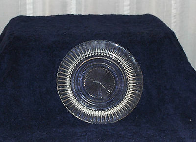 ANCHOR HOCKING GLASS CO CRYSTAL QUEEN MARY BREAD AND BUTTER 6 5/8 INCH PLATE