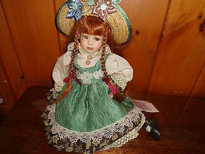Carly, With Braided Red Hair - Collectible Memories Porcelain Doll