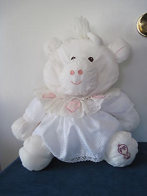 "Fisher Price Vintage PUFFALUMP Stuffed White COW #8001 1986 Approx 14"" High"