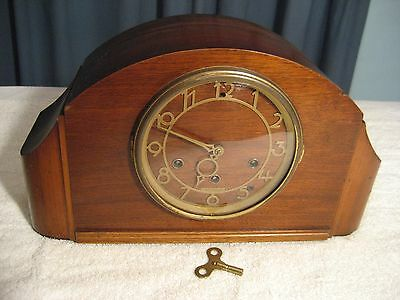 ANTIQUE SETH THOMAS MANTLE CLOCK WESTMINSTER CHIME VERY NICE WORKING