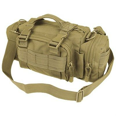Condor Tactical Deployment MOLLE Hunting Shoulder Go Bag Butt Pack Coyote Brown