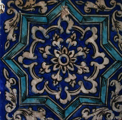 ANTIQUE PERSIAN QAJAR ISLAMIC TILE