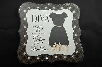 Wall Art Plaque Wood Sign Diva Girl Two Things Classy & Fabulous Inspiration