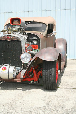 Ford : Model T rusty 1927 ford model t custom blown roadster with model a fenders