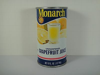Vintage Monarch Grapefruit Juice Can Colorful Old tin Kitchen Great Home Decor