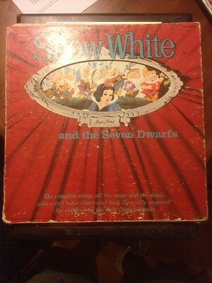 Walt Disney's Snow White And The Seven Dwarfs Record And Story Book