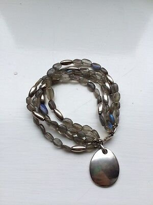 Beautiful Vintage Robert Lee Morris Sterling Silver & Labradorite Bracelet