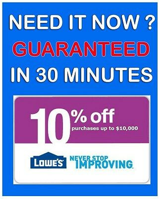 FIVE (5x) Lowes 10% Off Coupons * 5/7/2015 PRINTABLE! Email Fast. GUARANTEED !