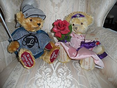 """HERMANN Vintage """"SIR LANCELOT & QUEEN GUINEVERE """" BEARS Limited Edition of 500"""