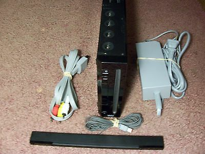 Nintendo Wii Black Console , 100% Working System With Cords , Free Priority !#W4