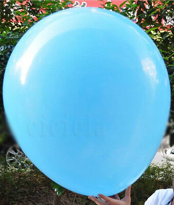 1X Lake Blue Giant Thicken Helium Balloons Wedding 36Inch Party Decoration