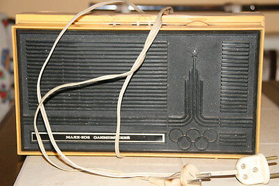 Vintage Soviet made in USSR Radio MAYAK 202 OLYMPIC Moscow 1980